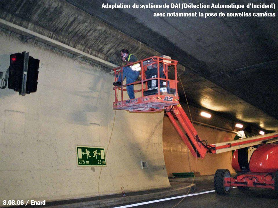 Adaptation du système de DAI (Détection Automatique dIncident) avec notamment la pose de nouvelles caméras 8.08.06 / Enard