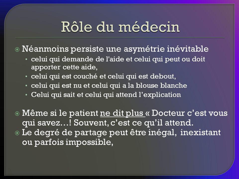 Dans la décision un facteur fondamental dont il faut tenir compte est la vulnérabilité du patient (ou de son mandataire).