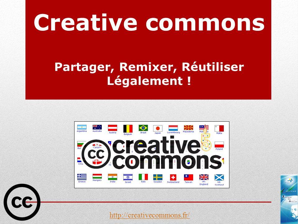 Creative commons Partager, Remixer, Réutiliser Légalement ! http://creativecommons.fr/
