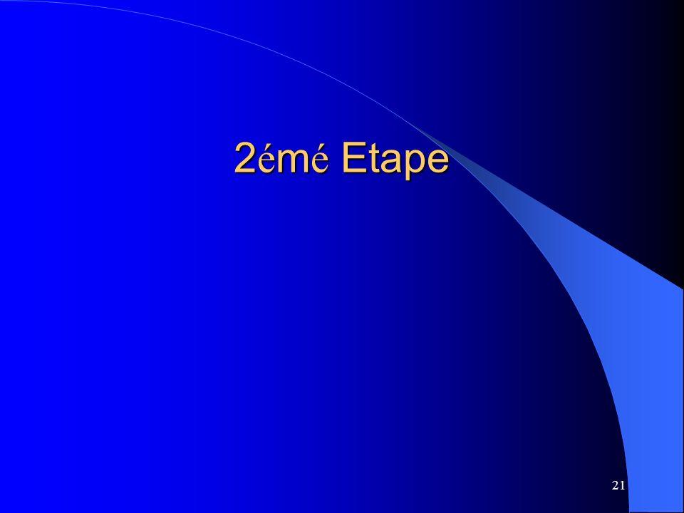 21 2 é m é Etape