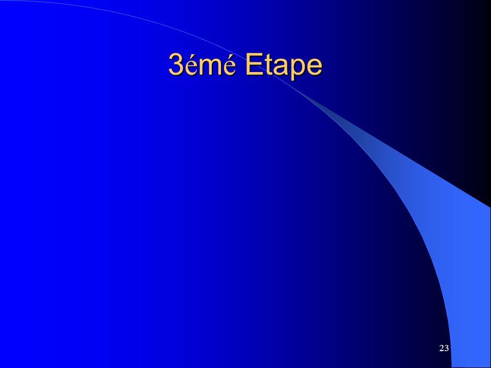 23 3 é m é Etape