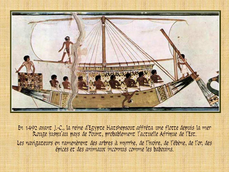 Les commerçants phéniciens naviguaient en mer Egée, en mer Méditerranée et en mer Noire. Hannon fut le plus grand explorateur. Il était originaire de