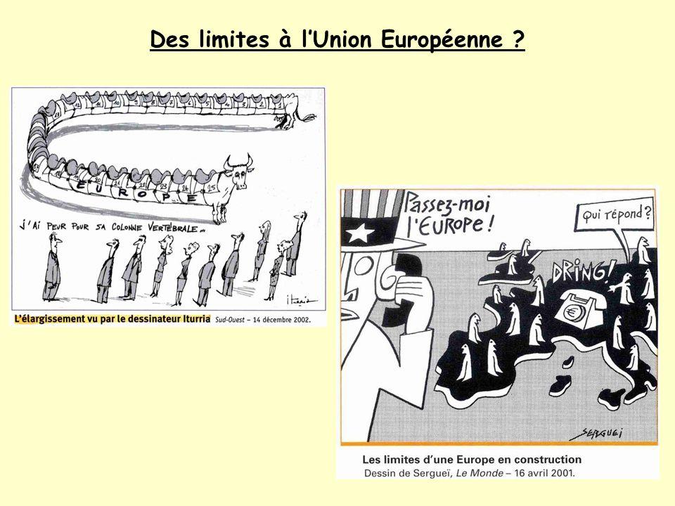 Des limites à lUnion Européenne ?