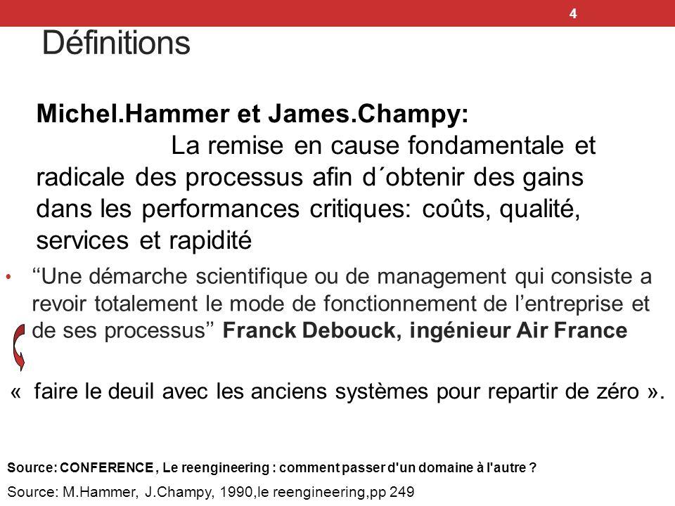 Bibliographie et Webographie 25 M.HAMMER & J.CHAMPY, « Le Reengineering » Dunod, 1993.