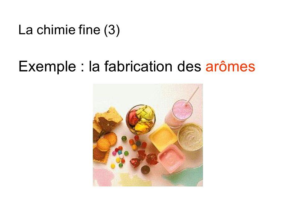 Exemple : la fabrication des arômes La chimie fine (3)