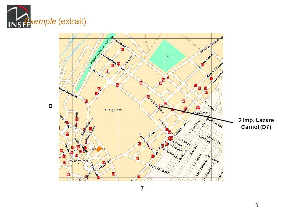 8 Exemple (extrait) 2 Imp. Lazare Carnot (D7) D 7