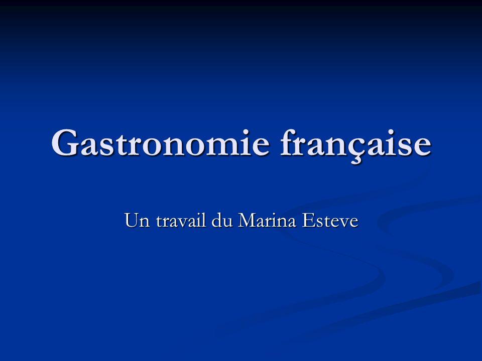 Gastronomie française Un travail du Marina Esteve