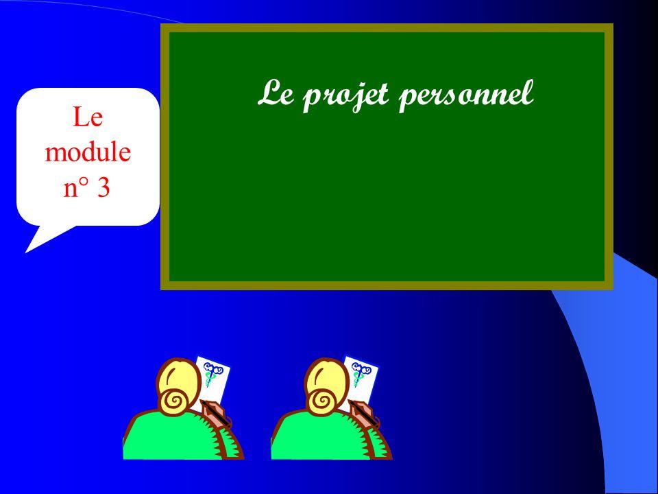 Le module n° 3 Le projet personnel