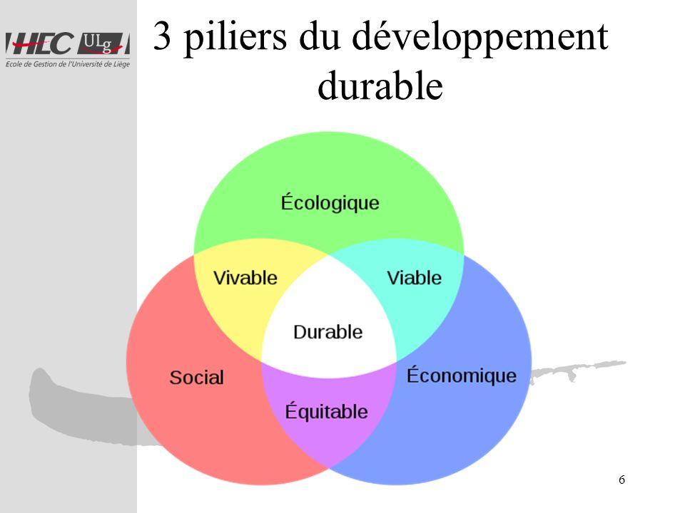 7 Vers un développement durable via une performance durable Dans ce contexte, la performance financière ne suffit plus à apprécier la performance d un pays, d une entreprise.