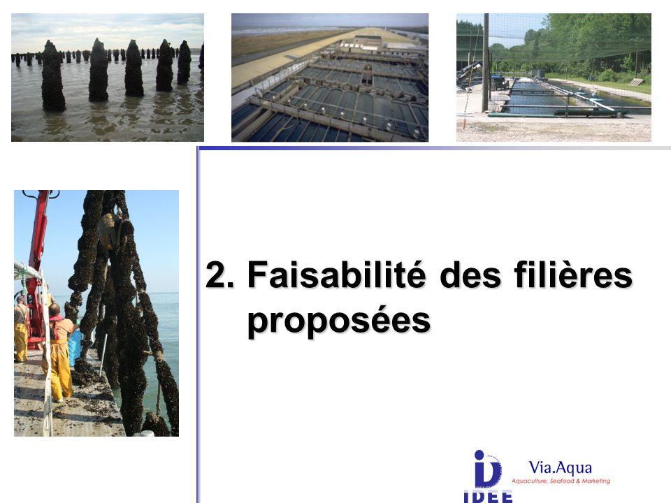 2. Faisabilité des filières proposées proposées