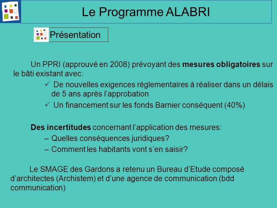 Un PPRI (approuvé en 2008) prévoyant des mesures obligatoires sur le bâti existant avec: De nouvelles exigences réglementaires à réaliser dans un déla