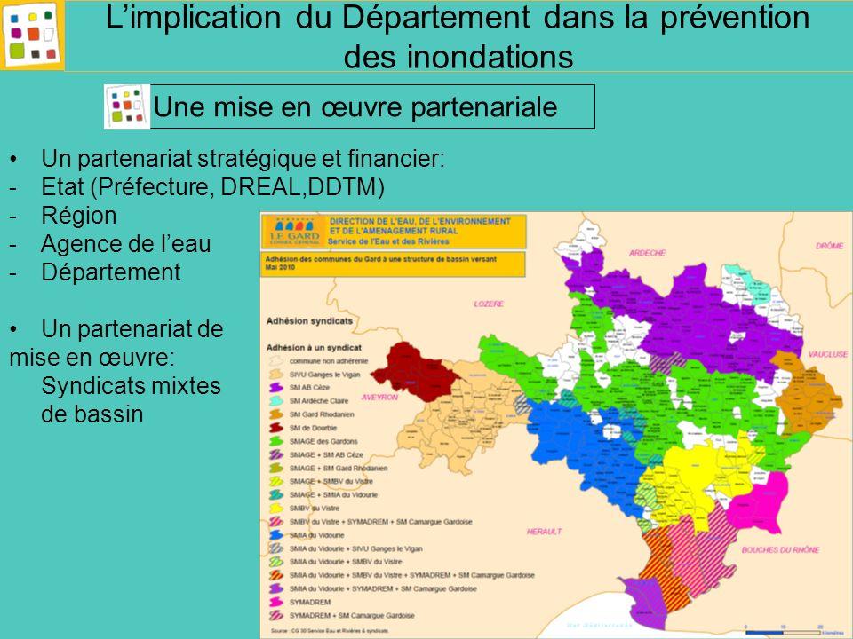 Un partenariat stratégique et financier: -Etat (Préfecture, DREAL,DDTM) -Région -Agence de leau -Département Un partenariat de mise en œuvre: Syndicat