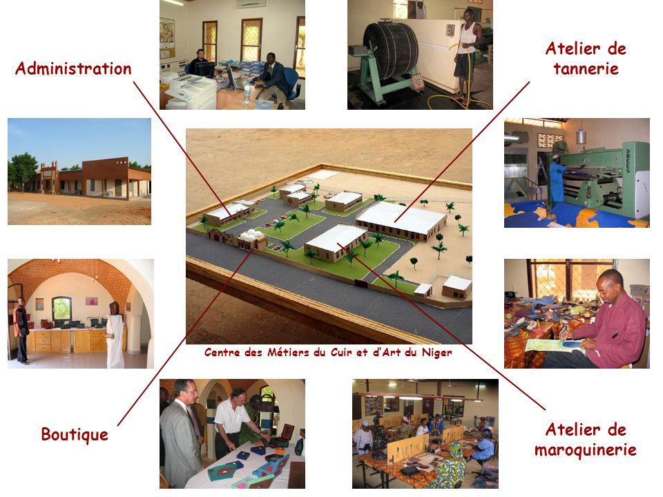 Administration Atelier de tannerie Atelier de maroquinerie Boutique Centre des Métiers du Cuir et dArt du Niger