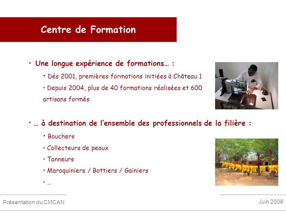 Centre de Formation Une longue expérience de formations… : Dés 2001, premières formations initiées à Château 1 Depuis 2004, plus de 40 formations réal