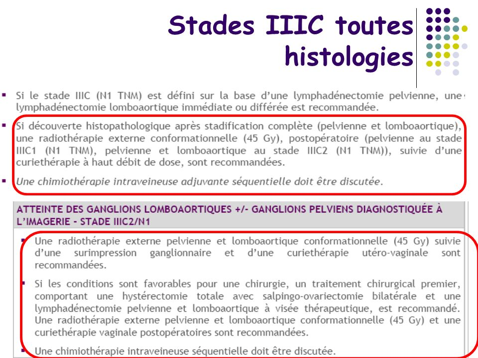 Stades IIIC toutes histologies