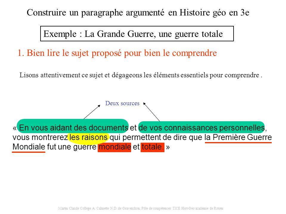 Martin Claude Collège A. Calmette N.D. de Gravenchon, Pôle de compétences TICE Hist-Géo académie de Rouen « En vous aidant des documents et de vos con