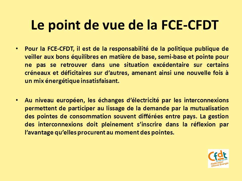 Le point de vue de la FCE-CFDT Pour la FCE-CFDT, il est de la responsabilité de la politique publique de veiller aux bons équilibres en matière de bas