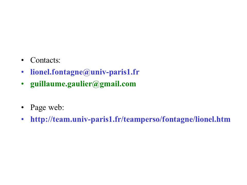 Contacts: lionel.fontagne@univ-paris1.fr guillaume.gaulier@gmail.com Page web: http://team.univ-paris1.fr/teamperso/fontagne/lionel.htm