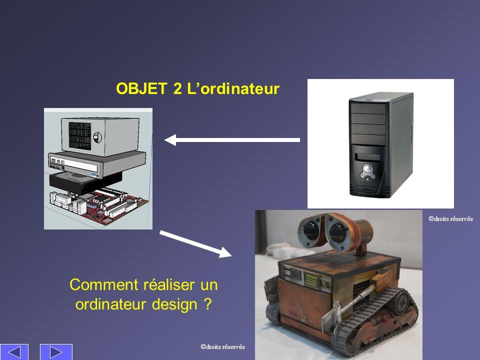 OBJET 2 Lordinateur Comment réaliser un ordinateur design ? © droits r é serv é s