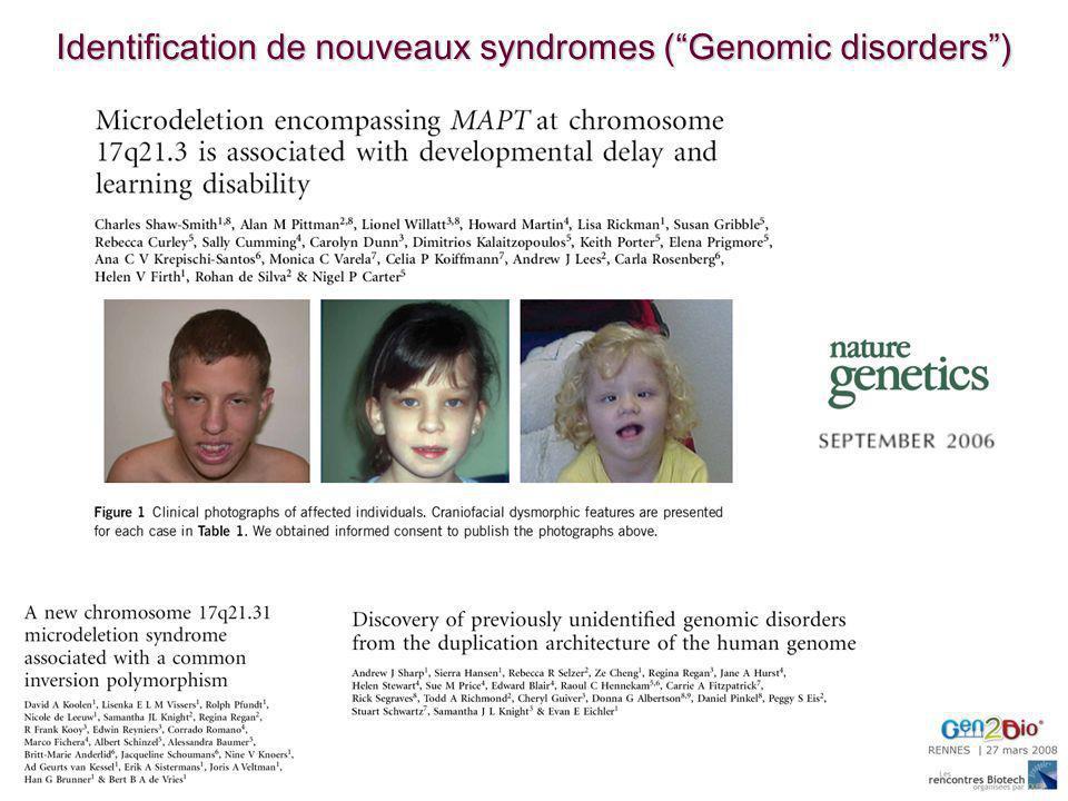 Identification de nouveaux syndromes (Genomic disorders)