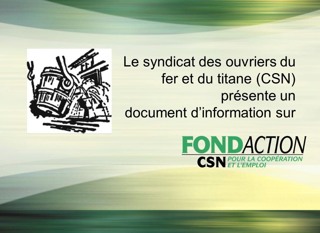 Le syndicat des ouvriers du fer et du titane (CSN) présente un document dinformation sur