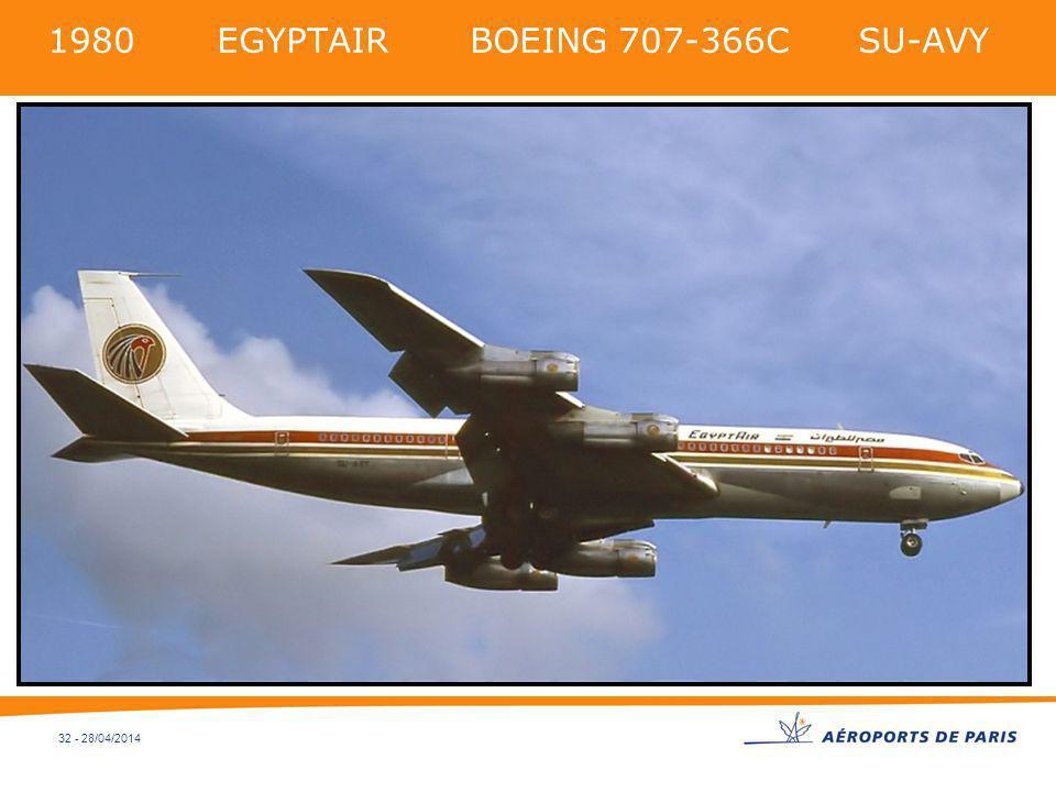 32 - 28/04/2014 1980 EGYPTAIR BOEING 707-366C SU-AVY