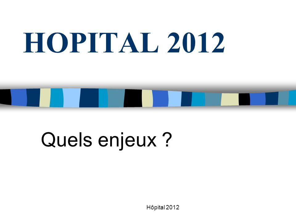 Hôpital 2012 HOPITAL 2012 Quels enjeux ?