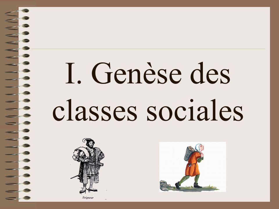 I. Genèse des classes sociales