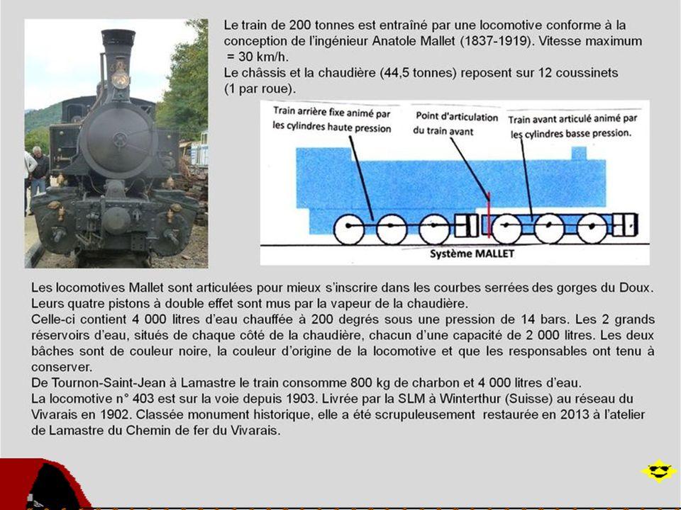 Le train de lArdèche associe la qualité des paysages traversés et un caractère historique marqué. La ligne à voie étroite a été construite à flanc de