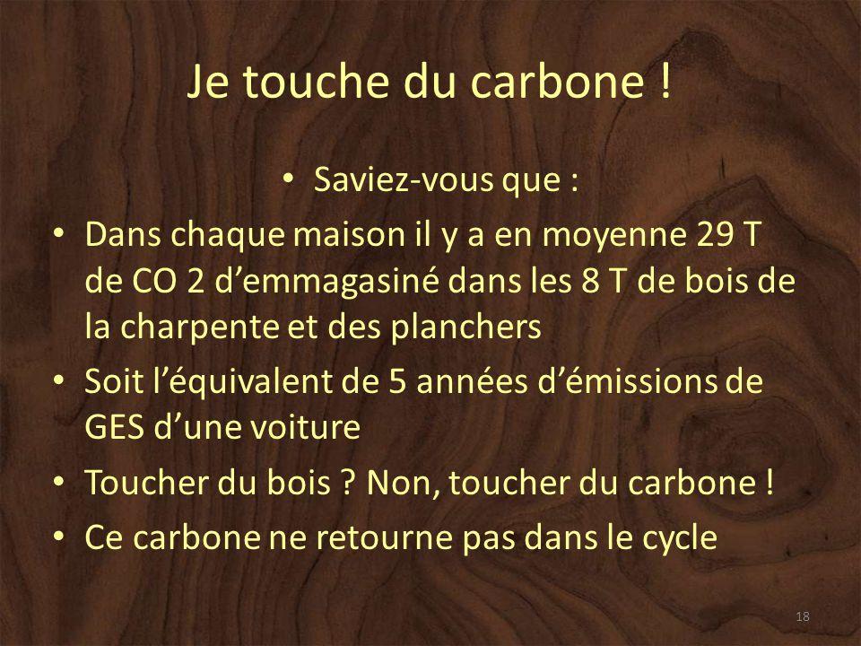 Je touche du carbone .