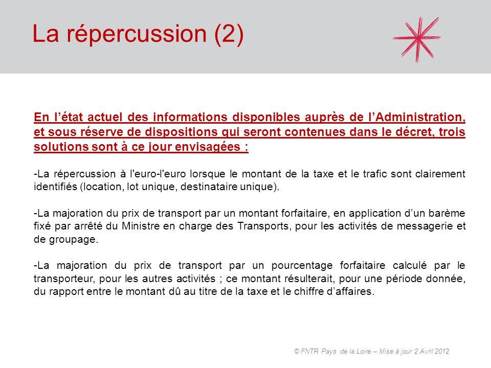 En létat actuel des informations disponibles auprès de lAdministration, et sous réserve de dispositions qui seront contenues dans le décret, trois sol