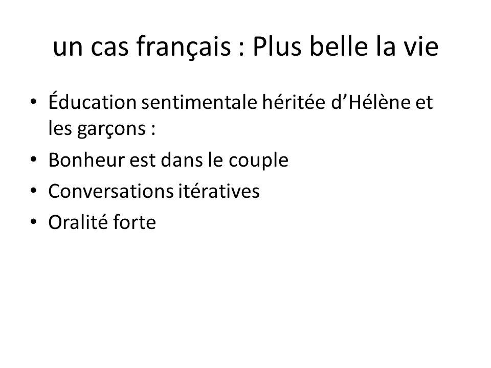 un cas français : Plus belle la vie Éducation sentimentale héritée dHélène et les garçons : Bonheur est dans le couple Conversations itératives Oralit