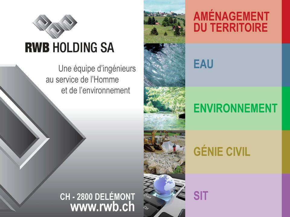 FO 303.5 / version 01 / 01.11.2008 www.rwb.ch Aménagement du territoire RWB Holding SA Eau Génie civilSIT Environnement