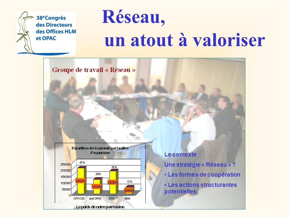 Réseau, un atout à valoriser Le contexte Une stratégie « Réseau » .