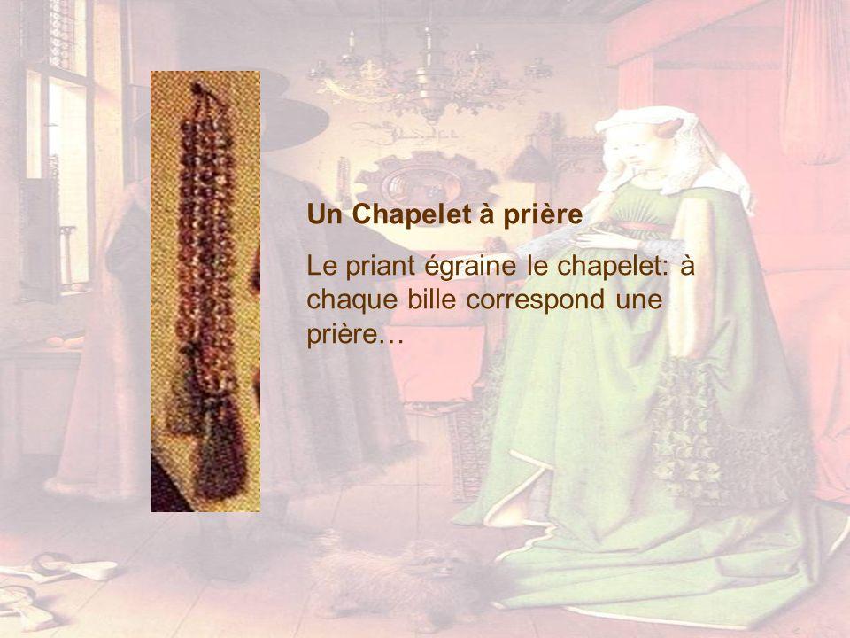 Un Chapelet à prière Le priant égraine le chapelet: à chaque bille correspond une prière…