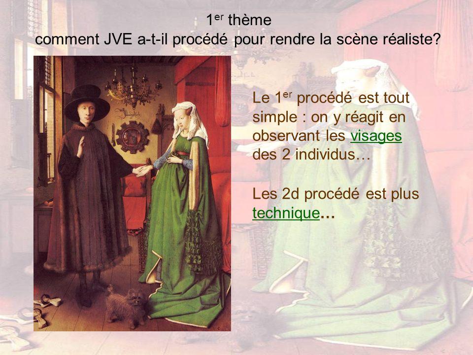 1 er thème comment JVE a-t-il procédé pour rendre la scène réaliste? Les 2d procédé est plus technique… technique Le 1 er procédé est tout simple : on
