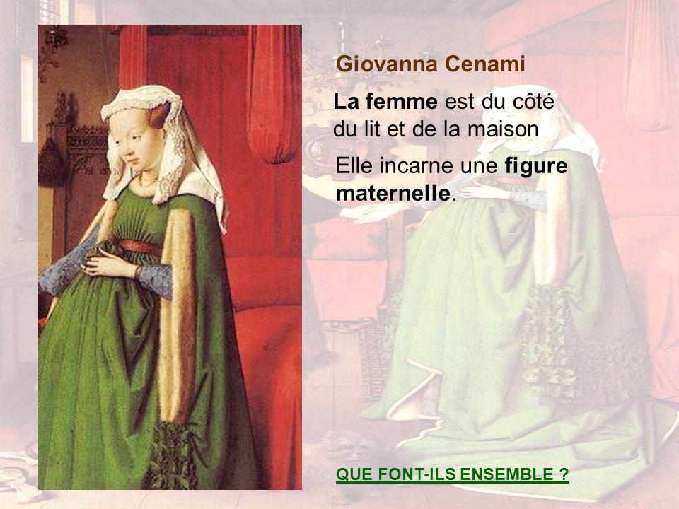 Giovanna Cenami La femme est du côté du lit et de la maison QUE FONT-ILS ENSEMBLE ? Elle incarne une figure maternelle.