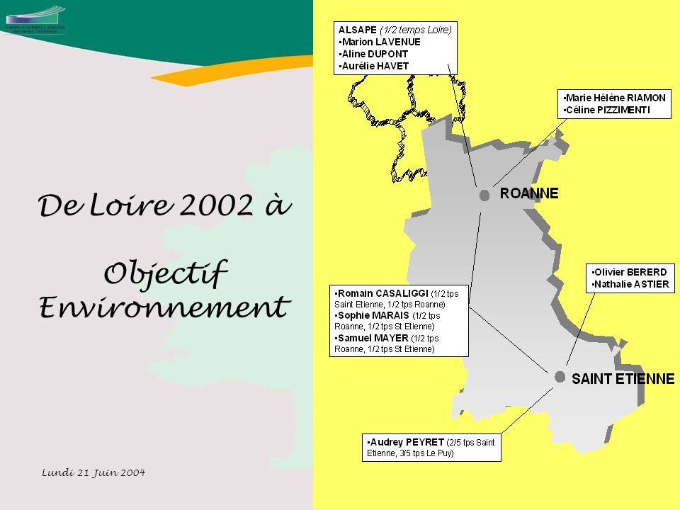 Lundi 21 Juin 2004 6 De Loire 2002 à Objectif Environnement