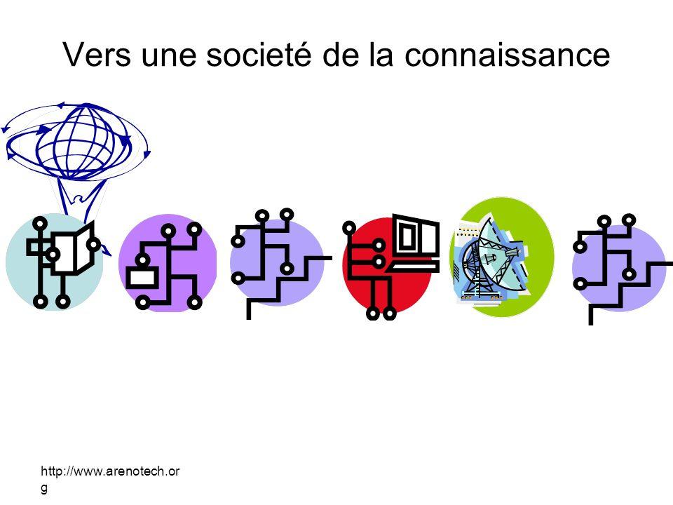 http://www.arenotech.or g Vers une societé de la connaissance