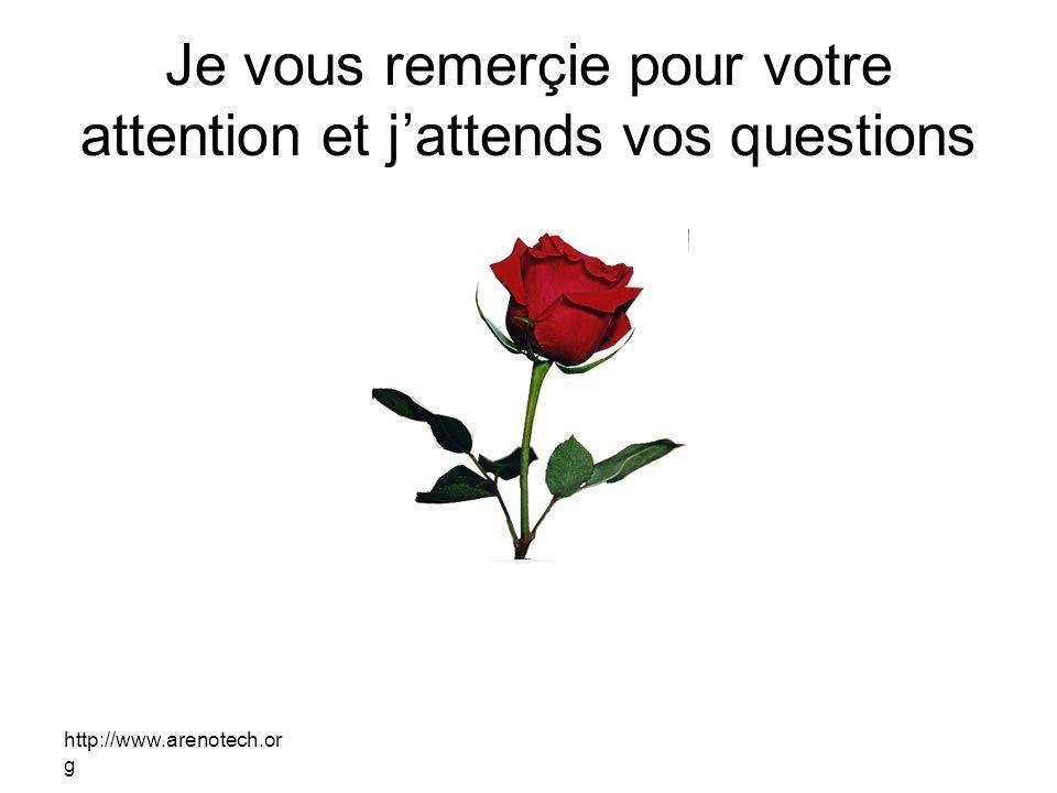 http://www.arenotech.or g Je vous remerçie pour votre attention et jattends vos questions