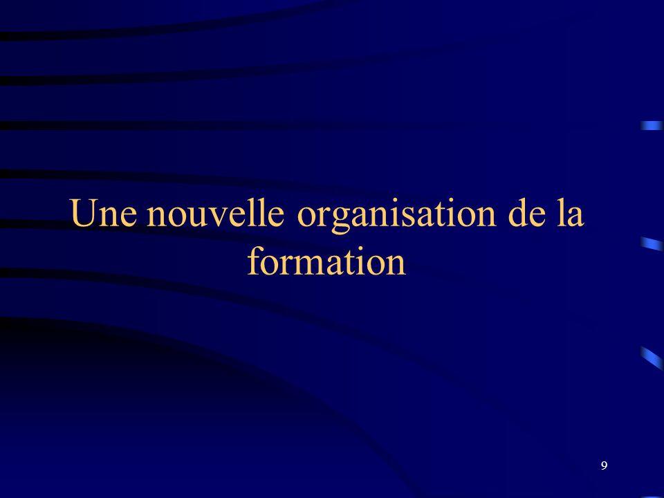 9 Une nouvelle organisation de la formation