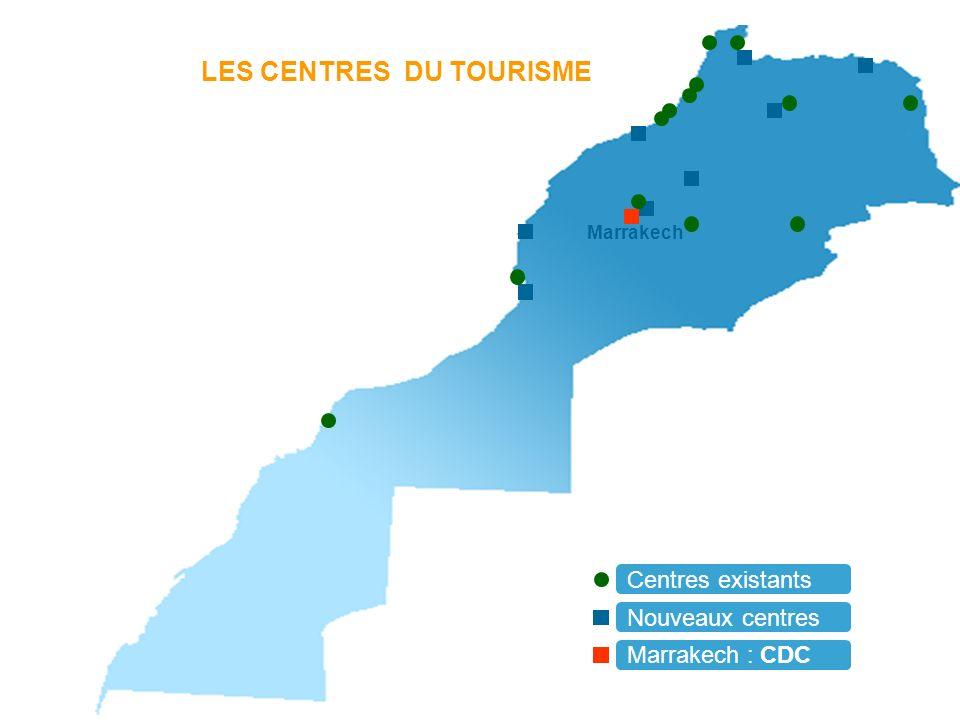 LES CENTRES DU TOURISME Centres existants Nouveaux centres Marrakech : CDC Marrakech
