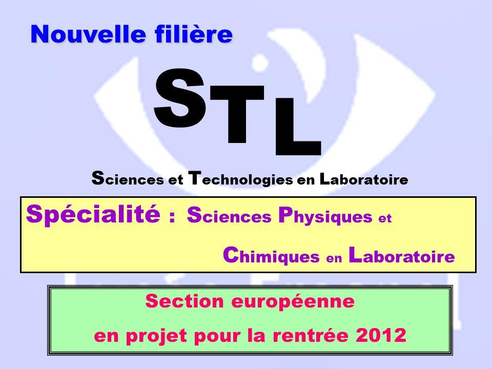 STL Sciences Physiques et Chimiques en Laboratoire STL Sciences Physiques et Chimiques en Laboratoire Quand choisir cette section .