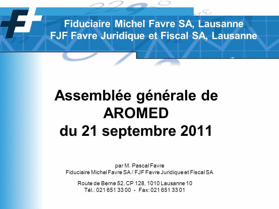 Assemblée générale de AROMED du 21 septembre 2011 par M.