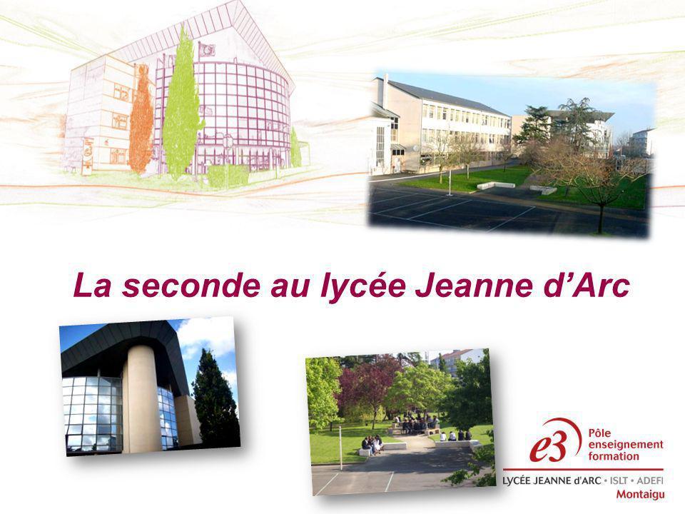 La seconde au lycée Jeanne dArc