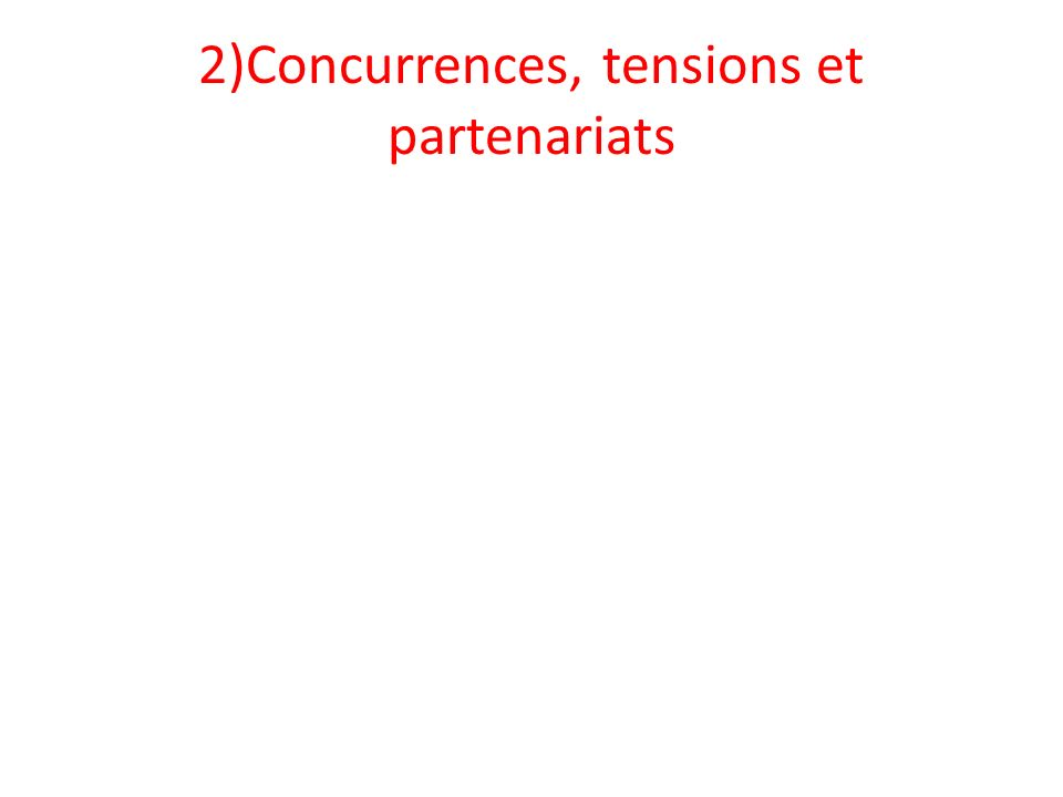 2)Concurrences, tensions et partenariats