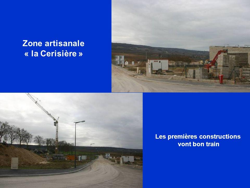 Zone artisanale « la Cerisière » Les premières constructions vont bon train