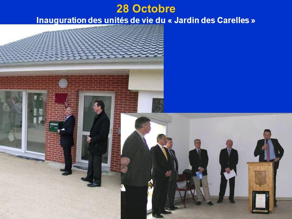 28 Octobre Inauguration des unités de vie du « Jardin des Carelles »