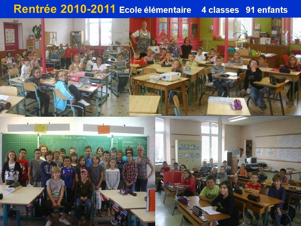 Rentrée 2010-2011 Ecole élémentaire 4 classes 91 enfants