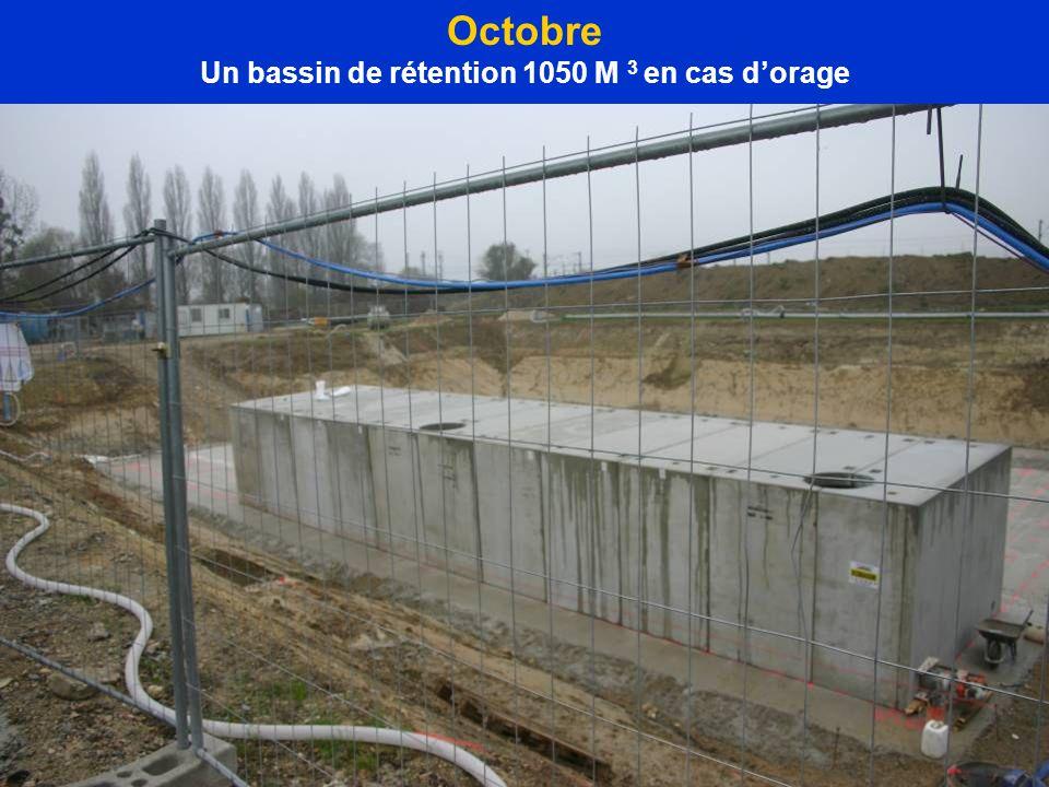 Octobre Un bassin de rétention 1050 M 3 en cas dorage